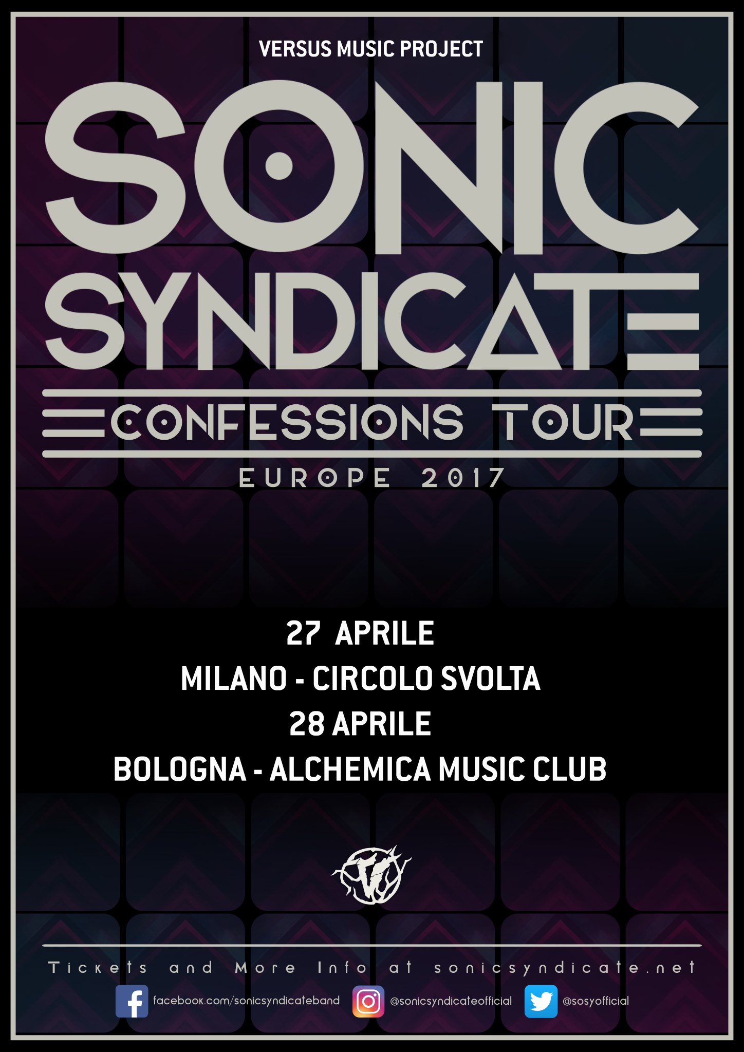 SONIC SYNDICATE tour