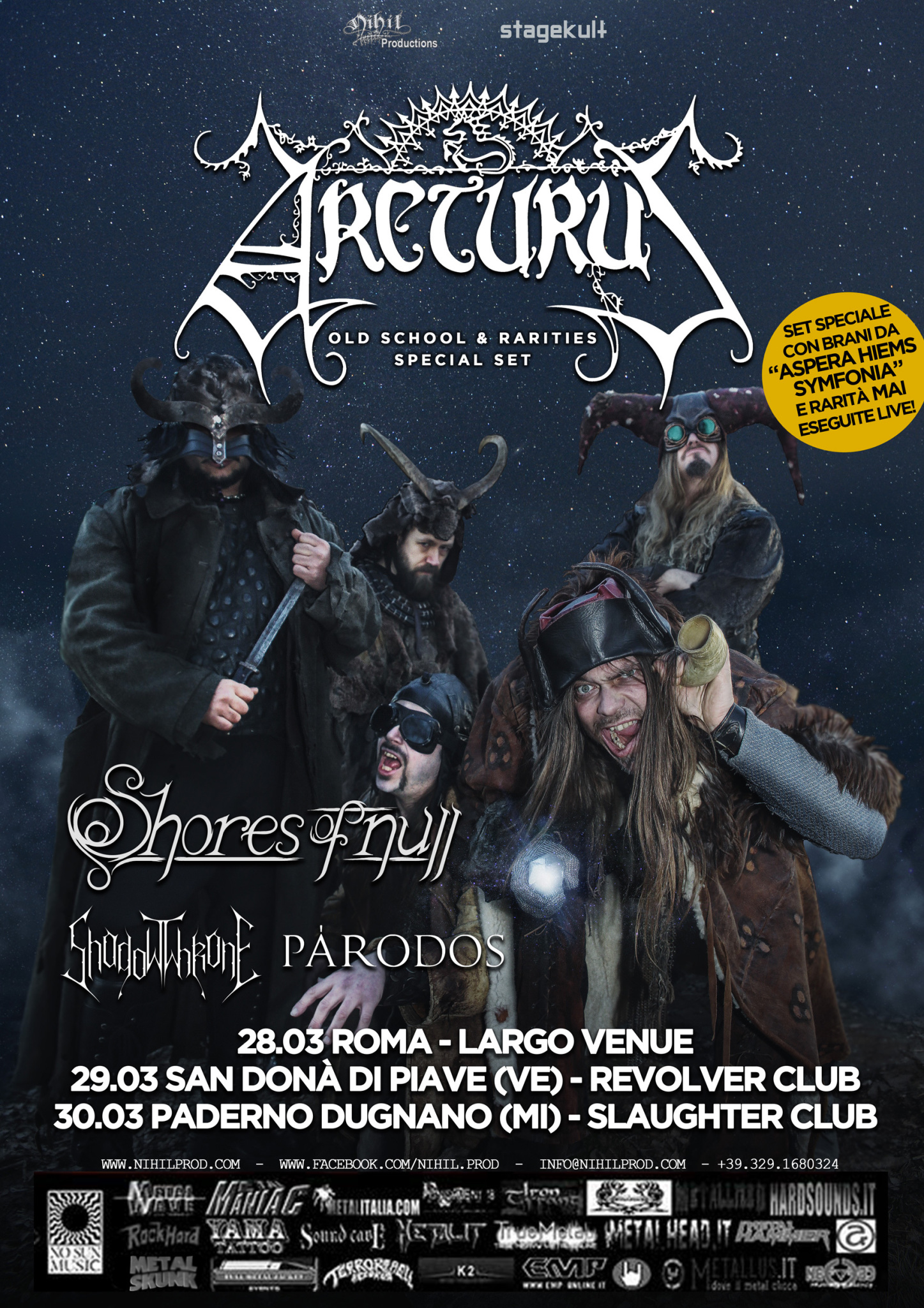arcturus italian tour 2019 web test