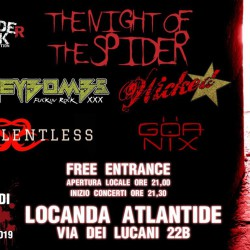 The Night Of The Spider - HoneyBombs + Wicked Starrr + GOA NIX + Silentless @Locanda Atlantide di Roma