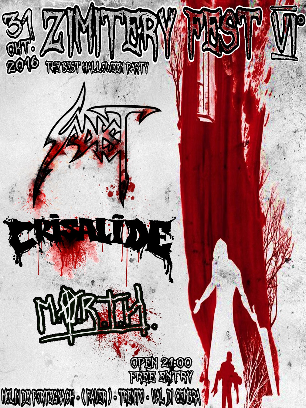 Zimitery Fest 6 with Sadist + Crisalide + M o r t h