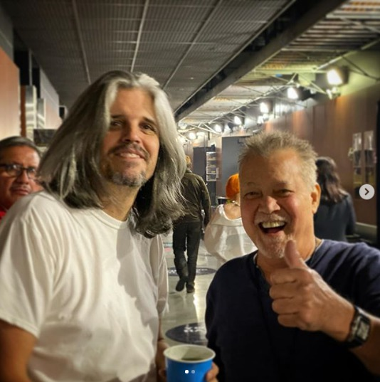 Van Halen: nuova foto di un Eddie Van Halen sorridente con Adam Jones dei  Tool - truemetal.it